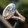 2.02ct Oval Diamond Halo Ring GIA I, Si1 3