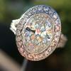 2.02ct Oval Diamond Halo Ring GIA I, Si1 4
