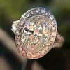 2.02ct Oval Diamond Halo Ring GIA I, Si1