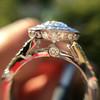 2.02ct Oval Diamond Halo Ring GIA I, Si1 6