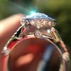2.02ct Oval Diamond Halo Ring GIA I, Si1 8