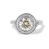 2.07ct Round Brilliant Diamond Halo Ring EGL K I1 0