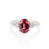 2.17ct Diamond & Spinel 3-Stone Ring 18
