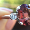 2.17ct Diamond & Spinel 3-Stone Ring 17