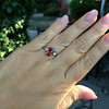 2.17ct Diamond & Spinel 3-Stone Ring 12