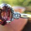 2.17ct Diamond & Spinel 3-Stone Ring 15