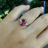 2.17ct Diamond & Spinel 3-Stone Ring 11