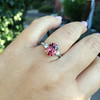 2.17ct Diamond & Spinel 3-Stone Ring 7