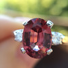 2.17ct Diamond & Spinel 3-Stone Ring 16