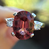 2.17ct Diamond & Spinel 3-Stone Ring 13