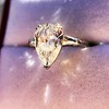 2.25ctw Vintage Pear Diamond Ring with French Cut Diamond Sidestones GIA H SI1 30