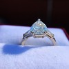 2.25ctw Vintage Pear Diamond Ring with French Cut Diamond Sidestones GIA H SI1 38