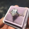 2.25ctw Vintage Pear Diamond Ring with French Cut Diamond Sidestones GIA H SI1 13