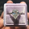 2.25ctw Vintage Pear Diamond Ring with French Cut Diamond Sidestones GIA H SI1 23