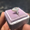 2.25ctw Vintage Pear Diamond Ring with French Cut Diamond Sidestones GIA H SI1 18