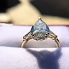 2.25ctw Vintage Pear Diamond Ring with French Cut Diamond Sidestones GIA H SI1 39