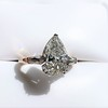 2.25ctw Vintage Pear Diamond Ring with French Cut Diamond Sidestones GIA H SI1 14