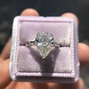 2.25ctw Vintage Pear Diamond Ring with French Cut Diamond Sidestones GIA H SI1 21