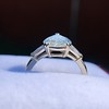 2.25ctw Vintage Pear Diamond Ring with French Cut Diamond Sidestones GIA H SI1 36