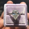 2.25ctw Vintage Pear Diamond Ring with French Cut Diamond Sidestones GIA H SI1 24
