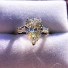2.25ctw Vintage Pear Diamond Ring with French Cut Diamond Sidestones GIA H SI1 28
