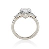 2.25ctw Vintage Pear Diamond Ring with French Cut Diamond Sidestones GIA H SI1 43