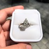 2.25ctw Vintage Pear Diamond Ring with French Cut Diamond Sidestones GIA H SI1 16