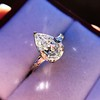 2.25ctw Vintage Pear Diamond Ring with French Cut Diamond Sidestones GIA H SI1 33