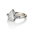 2.25ctw Vintage Pear Diamond Ring with French Cut Diamond Sidestones GIA H SI1 1