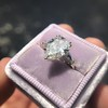 2.25ctw Vintage Pear Diamond Ring with French Cut Diamond Sidestones GIA H SI1 19