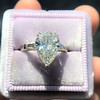 2.25ctw Vintage Pear Diamond Ring with French Cut Diamond Sidestones GIA H SI1 20