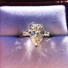 2.25ctw Vintage Pear Diamond Ring with French Cut Diamond Sidestones GIA H SI1 27