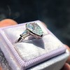 2.25ctw Vintage Pear Diamond Ring with French Cut Diamond Sidestones GIA H SI1 11