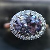 2.40ct Light Purple Sapphire Halo Ring 12