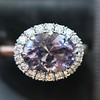2.40ct Light Purple Sapphire Halo Ring 14