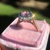 2.40ct Light Purple Sapphire Halo Ring 24