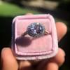 2.40ct Light Purple Sapphire Halo Ring 5