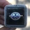 2.40ct Light Purple Sapphire Halo Ring 18