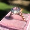2.40ct Light Purple Sapphire Halo Ring 6