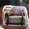 2.40ct Light Purple Sapphire Halo Ring 20