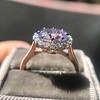 2.40ct Light Purple Sapphire Halo Ring 19