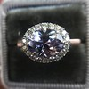 2.40ct Light Purple Sapphire Halo Ring 16