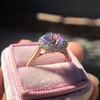 2.40ct Light Purple Sapphire Halo Ring 30