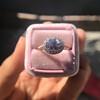 2.40ct Light Purple Sapphire Halo Ring 7