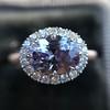 2.40ct Light Purple Sapphire Halo Ring 8