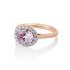 2.40ct Light Purple Sapphire Halo Ring 1