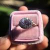 2.40ct Light Purple Sapphire Halo Ring 25