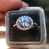 2.40ct Light Purple Sapphire Halo Ring 22