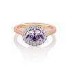 2.40ct Light Purple Sapphire Halo Ring 0