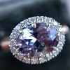 2.40ct Light Purple Sapphire Halo Ring 10
